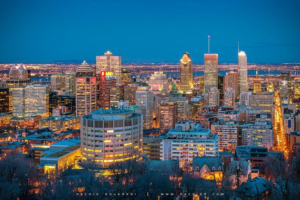 Centre Ville de Montréal par Rachik Bouanani sur www.rachikb.com