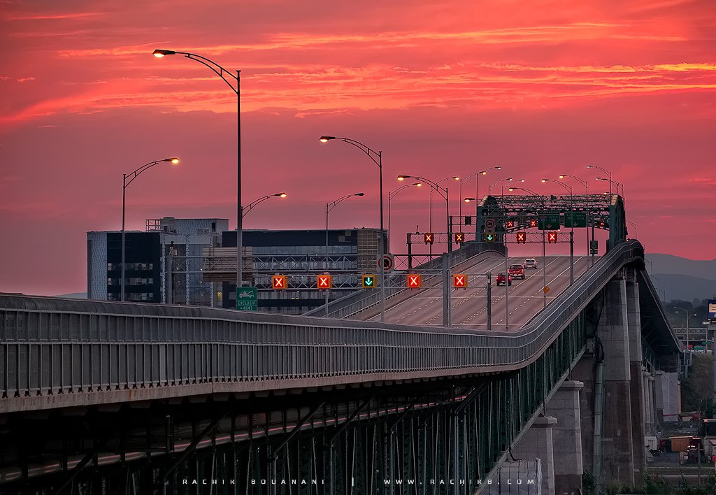Pont- acques Cartier à Montréal par Rachik Bouanani sur www.rachikb.com