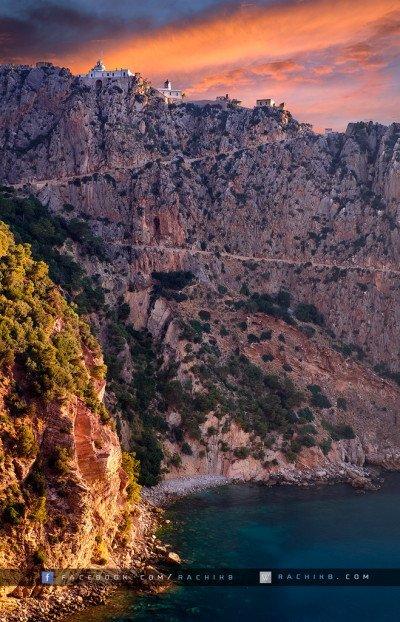 Crique Pirtous, au pied du Phare du Cap Carbon - Bejaia - by Rachik Bouanani